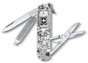 Нож брелок Victorinox 0.6223.L1109 Classic Technology Trash