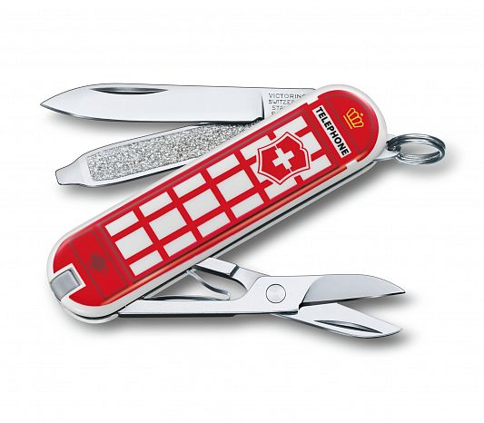 Нож брелок VICTORINOX 0.6223.L1808 Classic A Trip to London - Поездка в Лондон