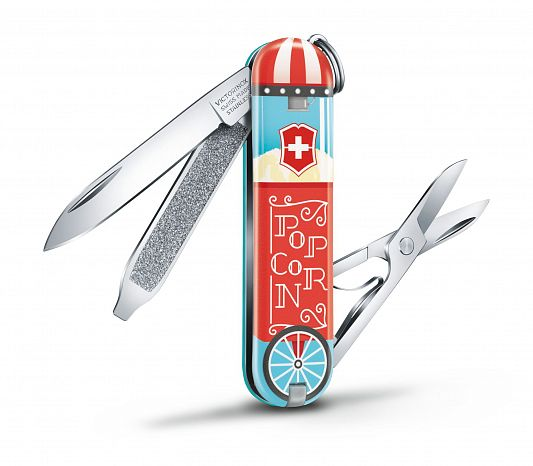 Нож брелок VICTORINOX 0.6223.L1910 Let it Pop