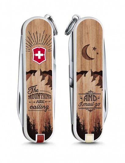 Нож брелок VICTORINOX Classic The Mountains are Calling - Горы Зовут 0.6223.L1604
