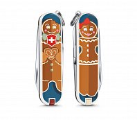 Нож брелок VICTORINOX 0.6223.L1909 Gingerbread Love