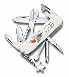 Нож складной VICTORINOX 1.4703.7E1 Super Tinker Winter Magic SE 2019 белый